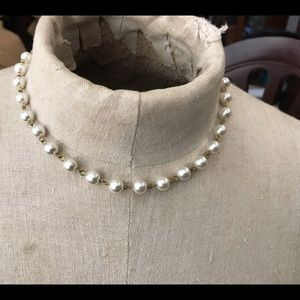 """Vintage pearl necklace new well made 15"""""""